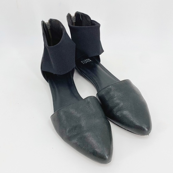Eileen Fisher Black Allot Pointed Toe Flats